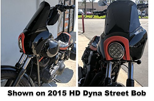 CBC TSport Front Fairing Outer for Harley-Davidson Club Style Dyna Street Bob or Dyna, FXR, T-sport (unpainted) by CaliBikerClub (Image #7)