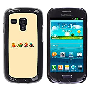 Stuss Case / Funda Carcasa protectora - Lindo empuje Ilustración de dibujos animados Monster - Samsung Galaxy S3 MINI 8190