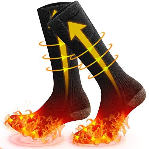 MOVTOTOP Verwarmde sokken, verwarmde sokken voor mannen/vrouwen, oplaadbaar, wasbaar 2020 nieuwste elektrische sokken, 3…