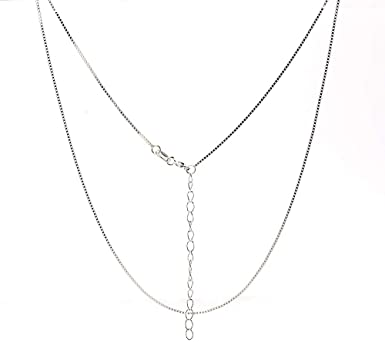 Super Thin /& Strong Lovely Chain Italian Necklace Chain NAGHC 925 Sterling Silver Chain 0.8MM Delicate Box Chain