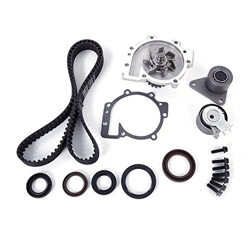 Timing Belt Water Pump Kit with Tensioner for 98-10 Volvo C30 S40 S60 XC90 S70 2.4L 2.5L 3.2L