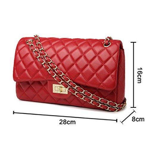 Bags 2018 Redpugoldchain Baby Ladies Shoulder 28x16x8cm Shoulder Lingge Handbags Fashion Chain Mini Bag Bags Tote H0Hwrq