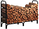 Open Hearth Log Rack 8 Ft. Black Powder Coated
