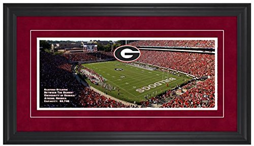 Sanford Stadium Georgia Bulldogs Gameday Framed Panoramic - Fanatics Authentic Certified - College Photos