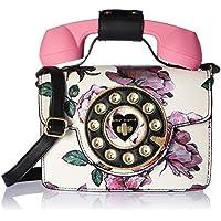 Betsey Johnson Mini Purple Flower Print Phone Bag