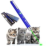 USB Charging Single Point Laser Pen Pet Cat Toy Wavelength 532nm, Outdoor Tactical LED High Power Green Light Beam Interactive Training Tools