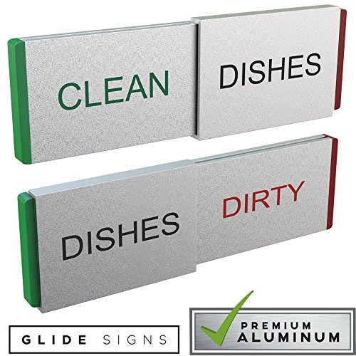 Glide Signs Dishwasher Magnet Clean Dirty Sign Premium