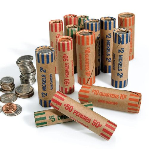 72 Preformed Penny Tubes Paper Coin Wrapper 1 Cent Pennies Shotgun Roll Counter