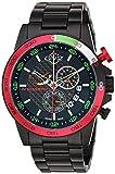 GV2 by Gevril Men's 9907 Scuderia Analog Display Quartz Black Watch