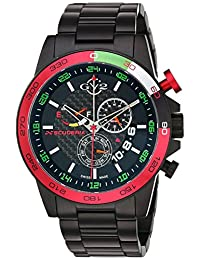 GV2 by Gevril Men's 9907 Scuderia Analog Display Quartz Black Watch