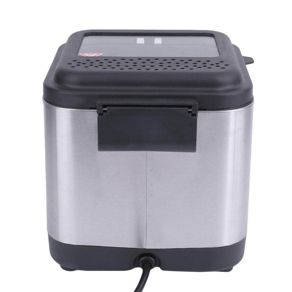 ... eléctrica Kleine Acero Inoxidable freidora, Mini Deep Fryer único, Tank, 1,5L, 900 W para la cocina en casa o pequeño restaurante: Amazon.es: Hogar