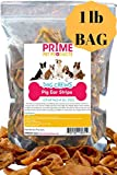 K9KONNECTION Pig Ears Strips Dogs - 1 lb Bag (20+ Count) All Natural Healthy Dog Treats, Made Pure Cut Pork Slivers - Better Alternative to Rawhide Chews - Thick Treat Small, Medium Large Dogs