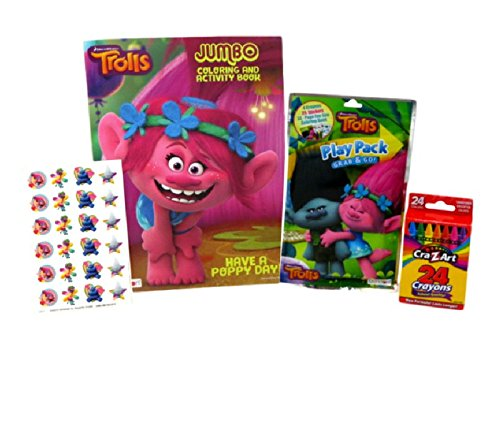 [Dreamworks Trolls Jumbo Coloring & Activity Book, Play Pack, and CraZart Crayons] (24k Christmas Tree Ornament)