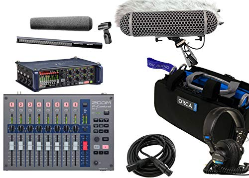 Zoom F8n Field Recorder & Sennheiser MKH416 P48 Shotgun Mic Bundle with Zoom F-Control Mixing Surface, Orca OR-27 Mixer Bag, Rode Blimp Windshield Kit, Sony MDR7506 Headphones & XLR Cable