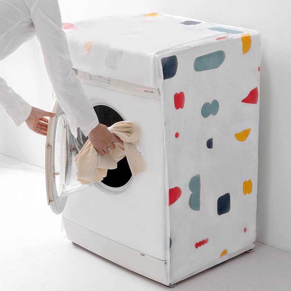 Vosarea H/ülle f/ür Frontlader-Waschmaschine wasserdicht geometrisches Motiv