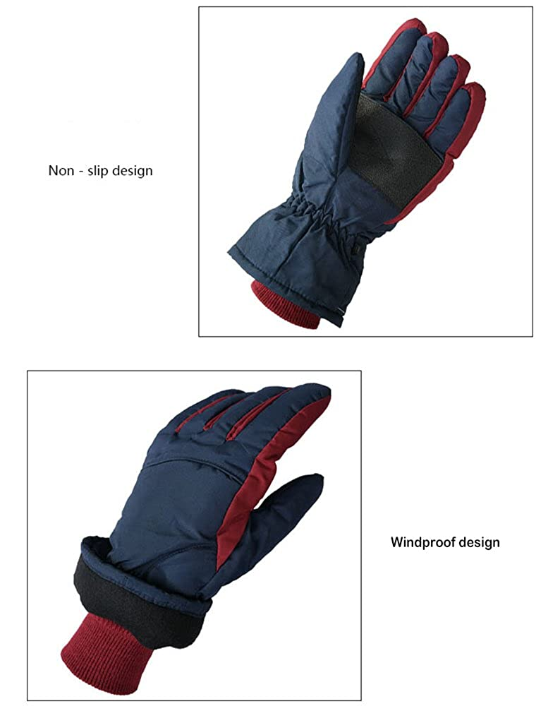 CHASEFREE Outdoor Waterproof Sport Ski Gloves Men Winter Hiking Gloves
