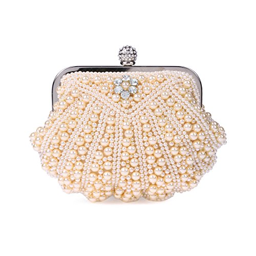Shell Evening Quilted Pearl Champagne Womens Bag Damara Clutch Shaped FqnwAxz5