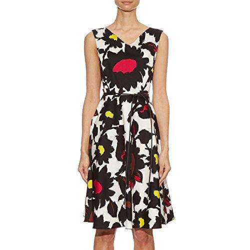 max-mara-womens-labbro-floral-print-a-line-dress-14-black-white