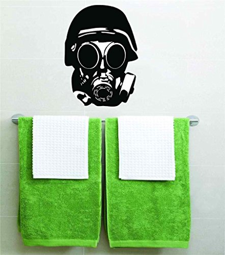 Top Selling Decals - Prices Reduced : Gas Mask Biohazard Vinyl Wall Peel & Stick Graphic Sticker Picture Art Home Halloween Party Decoration Kids Boy Girl Teen Dorm Room Children – 22 Colors Available For Savings 20x14 ()
