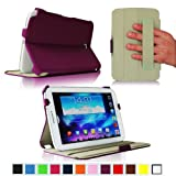 Fintie ClickBook Series Folio Hardback Case with Built-in Stand Auto Wake/Sleep for Samsung Galaxy Note 8.0 inch Tablet GT-N5100 / N5110 - Purple