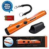 PudiBe Waterproof Metal Detector pinpointer - 2019 Fully Waterproof Design Metal detectors for Adults Kids,Include a 9V Battery and with Belt Holster