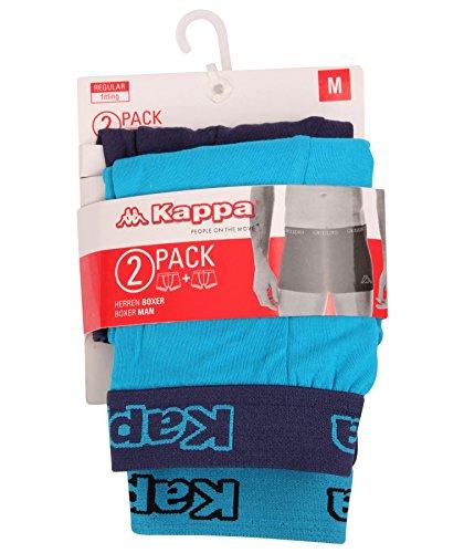 Kappa - Herren Boxershorts 2-Pack - Dunkelblau, Medium