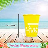 Fun Express Disposable Luau Cups (50 Cups) Bright