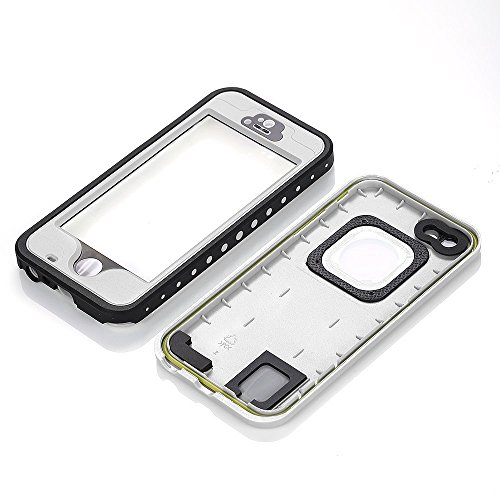 iPhone 5S Waterproof Case, Bessmate IP 68 Waterproof, Dustproof, Snowproof, Shockproof Protrctive Carrying Cover Cases with Fingerprint Recognition Touch ID for iPhone 5S (White) by Bessmate™ (Image #3)