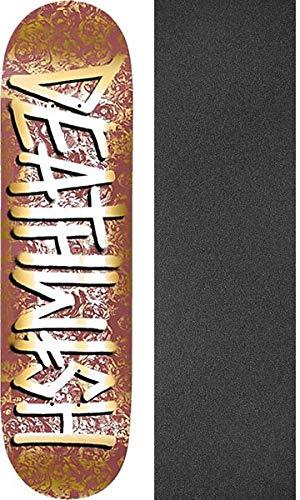 船員くそーアデレードDeathwish Skateboards 死の散歩 Chorus スケートボードデッキ - 7.75インチ x 31.25インチ モブグリップ穴あきグリップテープ付き - 2個セット