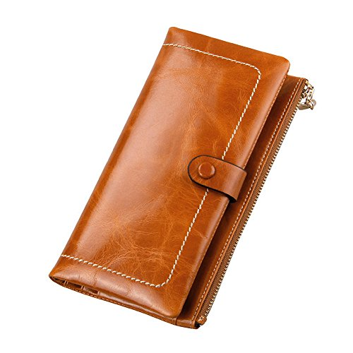 BesToo Women's Genuine Leather Clutch Wallet Hand Bag Fas...