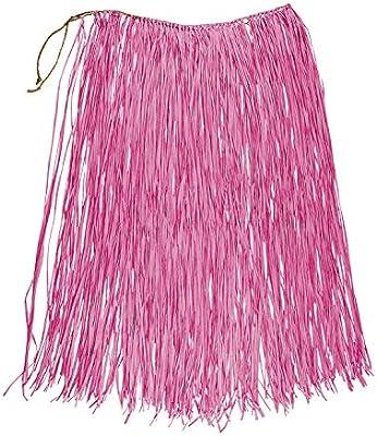 Boland - Rafia Falda Hawaii, Color Rosa, 52239: Amazon.es ...
