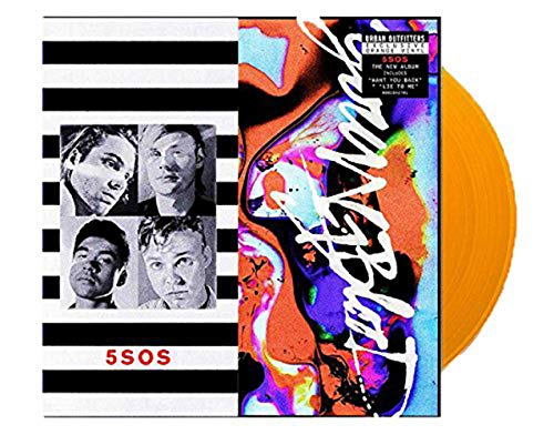 5 Seconds of Summer - Youngblood Exclusive Orange Color vinyl lp [VG+/NM- condition] (Selena Gomez & The Scene Summers Not Hot)