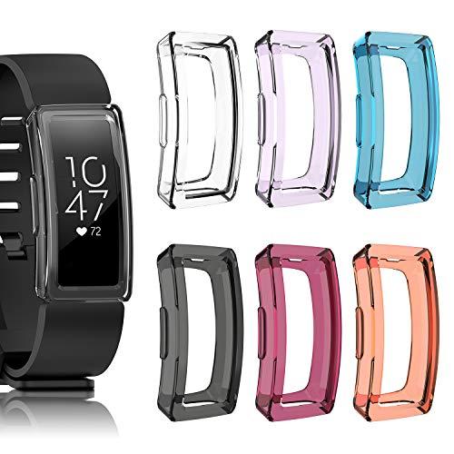 FYOUNG, kompatibel mit Fitbit Inspire & Fitbit Inspire HR Displayschutzfolien [6 Packungen], TPU, transparente…