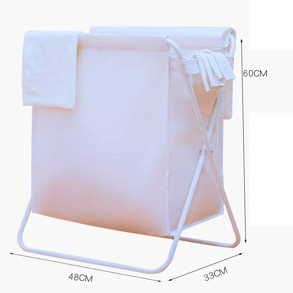 MU Cesto de la Ropa nórdica Tela de Lino de algodón Plegable Cesto Sucio Ropa para el hogar Bolsa Blanca: Amazon.es: Deportes y aire libre