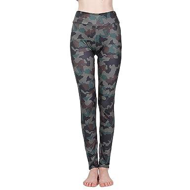0f67c230b6 UROSA Women High Waist Digital Print Fitness Yoga Athletic Pants Sports  Leggings 2019 Army Green at Amazon Women's Clothing store: