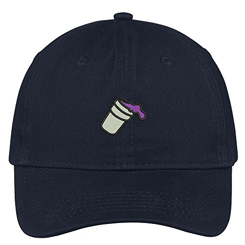 Trendy Apparel Shop Double Cup Morning Coffee Embroidered Soft Cotton Low Profile Dad Hat Baseball Cap - Navy,One Size ()