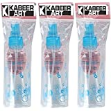 KABEER ART® 100ml Empty Cute Bear & Floral Refillable Fine Mist Sprayer Spray Bottle Atomizer with Ultra-Fine Mist Pump for Beauty, Outdoors, Travel Purposes - 3 Pc (Random Colour)