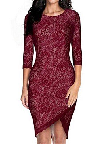 Zeagoo Stylish Elegant Sexy Women's Casual O-neck Party Lace Mini Dress