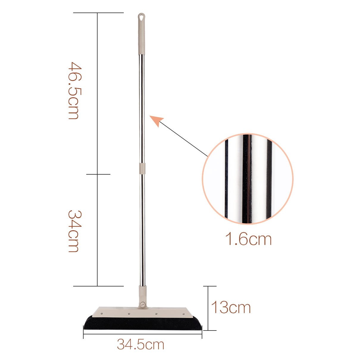 MEIBEI Sponge Broom Dust Cleaner, 37.4'' Adjustable Long Handle with 13.8'' Wide Blade, Perfect for Wood Tile Marble Carpet & Glass by MEIBEI (Image #5)