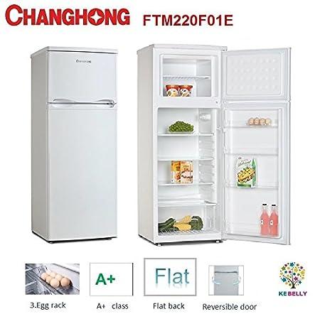 Nevera doble puerta 240 l blanco Changhong Clase A + MODELO ftm220 ...