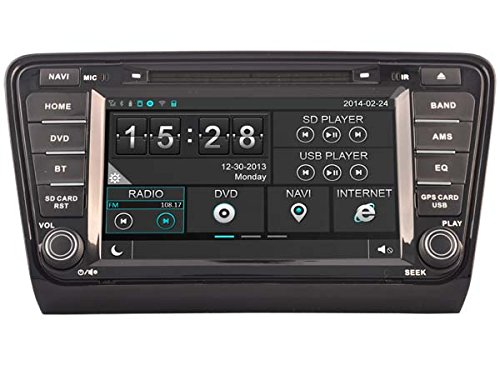 Hkhonda for Skoda Octavia Rapid 2013 - 2014 Car DVD Player GPS Navigation 3g Wifi Sd Card with Maps