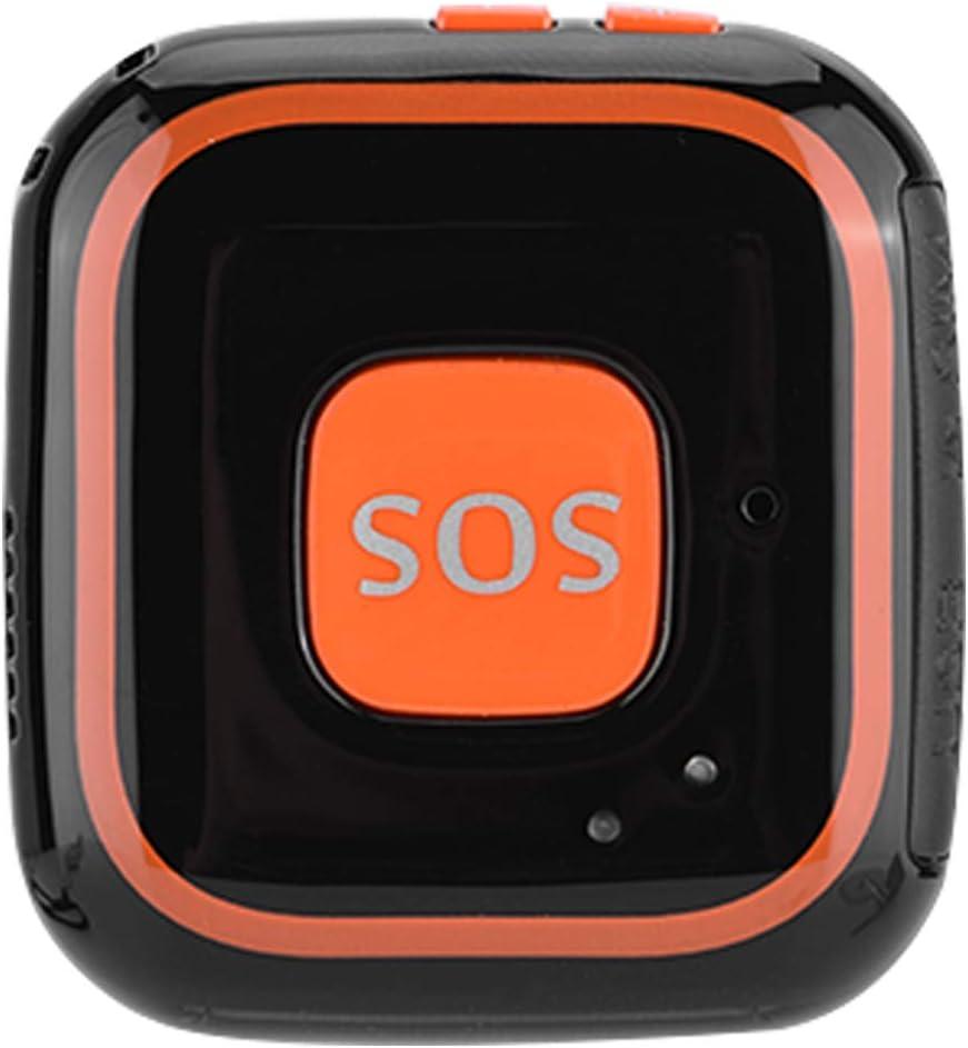 Bewinner Mini Rastreador GPS para Niños Seguimiento Localizador Portátil Aplicación de Alarma SOS Localizador de Intercomunicación de Dos Vías con Llamada de Botón para Seguridad de Niño(Negro)