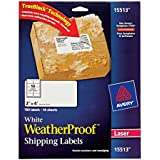 Avery WeatherProof Labels for Laser Printers, 2 x 4 Inch, White, Pack of 100  (15513)