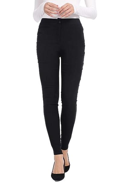 Amazon.com: AUQCO Pantalones de vestir para mujer, elásticos ...