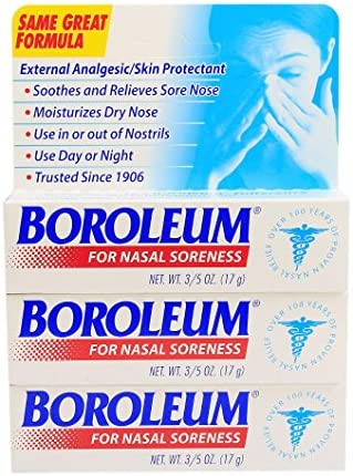 Boroleum for Nasal Soreness 3 PACK , 17 grams, 3 5 Ounce per Tube