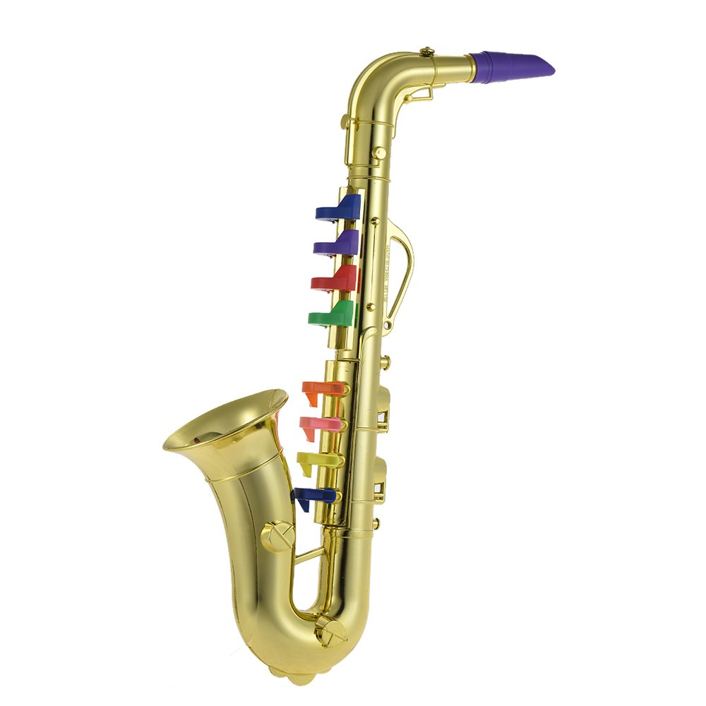 ammoon Saxophone Sax jouet musical instrument cadeau avec 8 touches de couleur pour enfants (Argent)