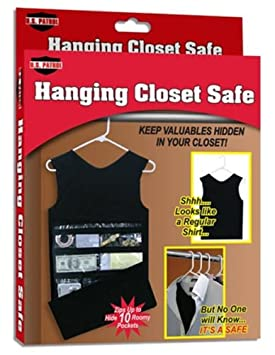 Amazon.com: Hanging Closet Safe Hides Valuables Hidden Tank Top Dress  Secret Shirt Suit NEW: Home U0026 Kitchen