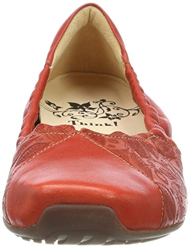 Kombi Kombi Chilli Chili Gaudi Think 76 chilli Femminile peperoncino Women's Punta 282177 76 kombi 76 Closed kombi Pensare Toe Rosso Ballerine 76 Gaudi Flats Red Ballet 282177 Chiuso 7g4wF7