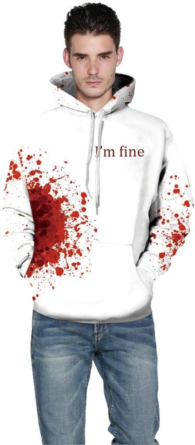 no sale tax many fashionable online shop Unisex Hoodies Binmer Mens Women I'm Fine Blood Halloween ...