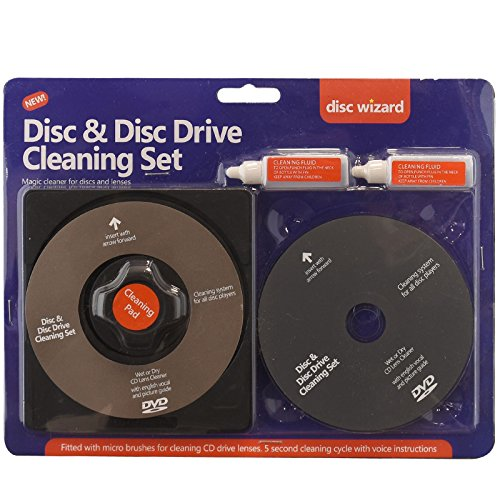 ASAB 2In1 Laser Lens Cleaner Disc Cleaning Pad Fluid Kit Ps3 Xbox One/360 Blu Ray Dvd Cd Player Removes Dust Fingerprints